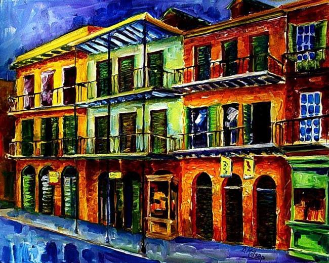 Art: Nawlins Blue Night - SOLD by Artist Diane Millsap