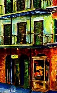 Detail Image for art Nawlins Blue Night - SOLD