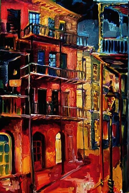 Art: New Orleans Night- SOLD by Artist Diane Millsap