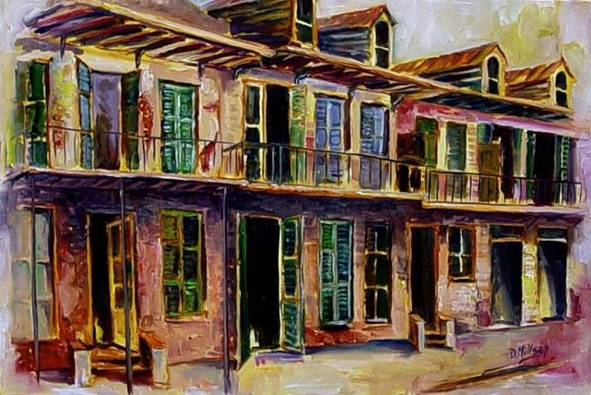 Art: New Orleans in a Mist - SOLD by Artist Diane Millsap