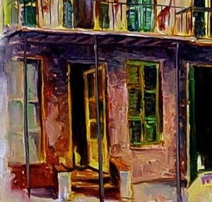 Detail Image for art New Orleans in a Mist - SOLD