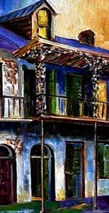 Detail Image for art Mood Indigo - New Orleans - SOLD