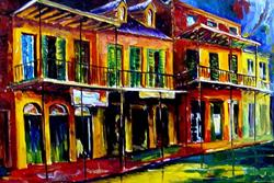 Art: Lively Vieux Carre - SOLD by Artist Diane Millsap