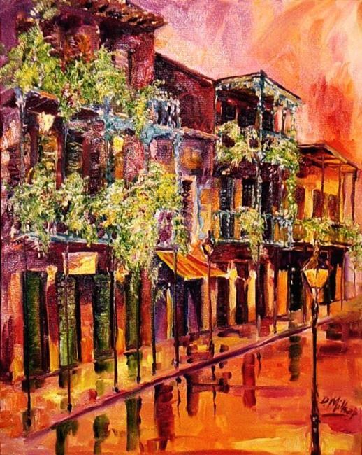 Art: Spring Rain in the French Quarter - SOLD by Artist Diane Millsap