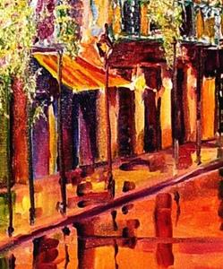 Detail Image for art Spring Rain in the French Quarter - SOLD