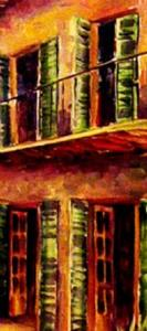 Detail Image for art French Quarter Courtyard - SOLD