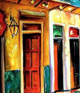Detail Image for art Rainy Night on Bourbon Street - SOLD