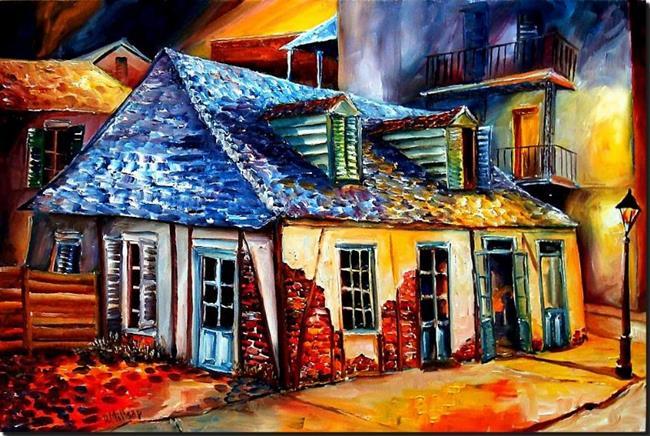 Art: La Fitte's Blacksmith Shop - SOLD by Artist Diane Millsap