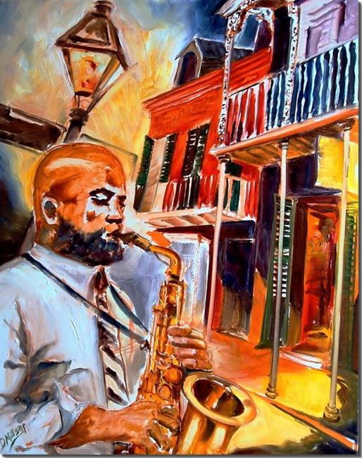 Art: Big Easy Jazz - SOLD by Artist Diane Millsap