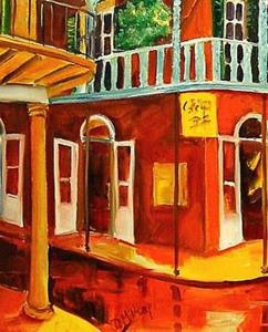 Detail Image for art New Orleans Rhapsody in Red - SOLD