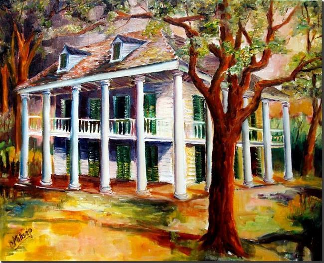 Art: Bayou Plantation - SOLD by Artist Diane Millsap