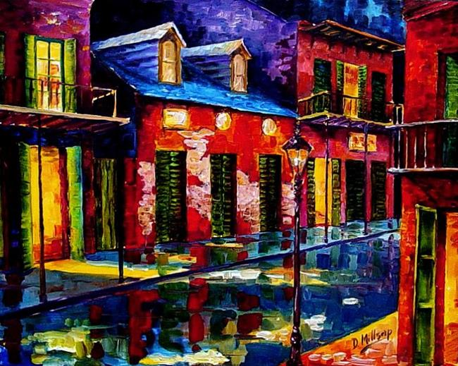 Art: Tribute to the French Quarter - SOLD by Artist Diane Millsap