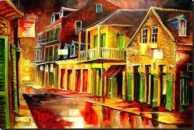 Art: Old Bourbon Street - SOLD by Artist Diane Millsap