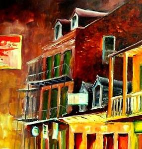 Detail Image for art Old Bourbon Street - SOLD