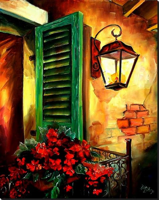Art: Night Blooms in the Vieux Carre - SOLD by Artist Diane Millsap
