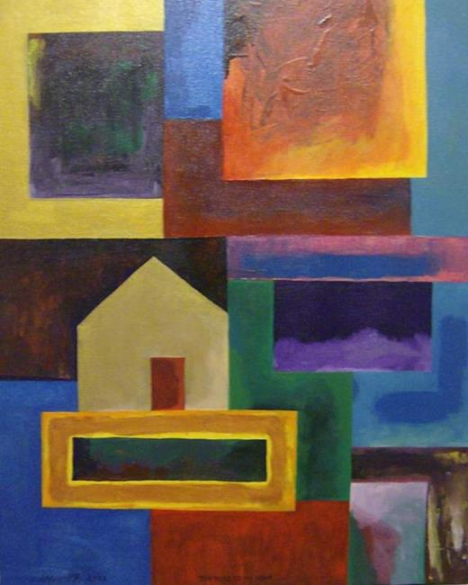 Art: THE ROAD TO MY HOME, PRICE US$850.00 by Artist Moshiur Rahman