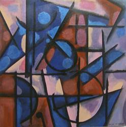 Art: IN THE TOY GARDEN, PRICE US$1200.00 by Artist Moshiur Rahman