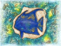 Art: Angelfish 2 ~ Blue Green by Artist Christine Wasankari