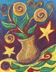 Art: Happy ~ 6th in Series by Artist Christine Wasankari