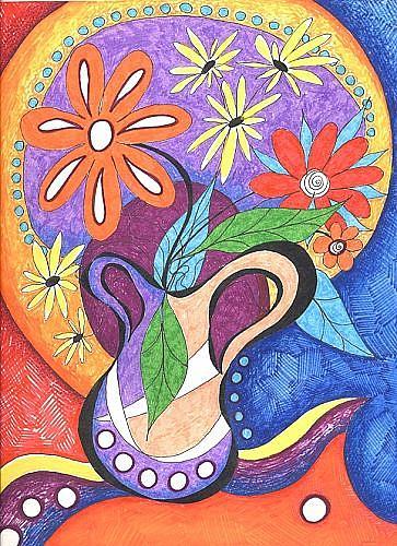 Art: Happy ~ Burst by Artist Christine Wasankari