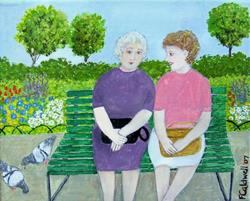 Art: Catching Up (SOLD) by Artist Fran Caldwell