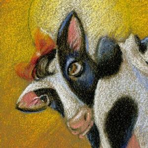 Detail Image for art Happy Cow....? (SOLD)