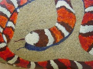Detail Image for art Mountain King Snake rock portrait
