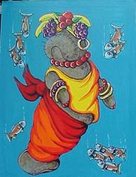 Art: Carmen Mirandatee by Artist Nikki Davidson Moor