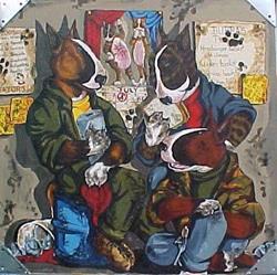 Art: Junk Yard Dogs by Artist Nikki Davidson Moor
