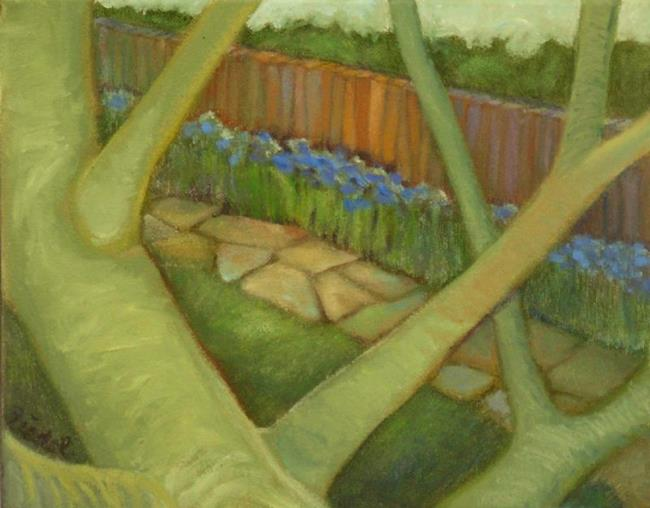 Art: View From Upstairs by Artist Elizabeth Fiedel