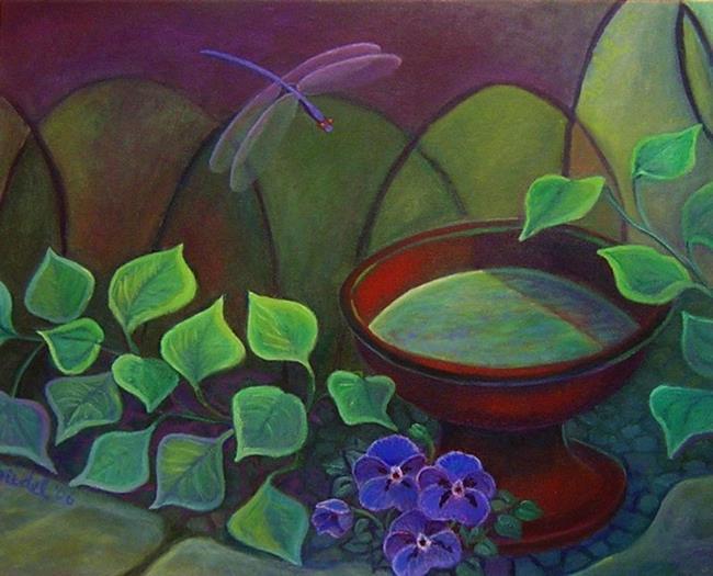 Art: Shade Garden by Artist Elizabeth Fiedel