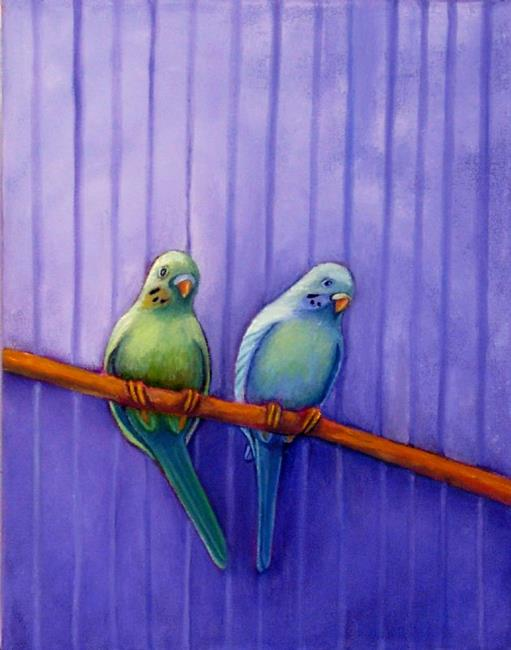 Art: A Pair of 'Keets by Artist Elizabeth Fiedel