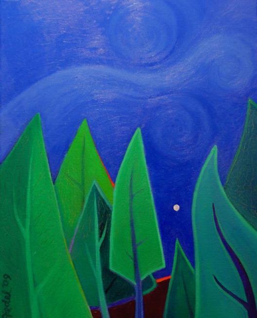 Art: Pine Ridge by Artist Elizabeth Fiedel