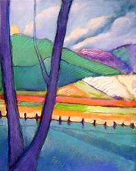 Art: Fields & Hills by Artist Elizabeth Fiedel