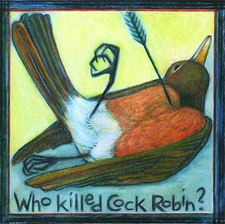Art: Cock Robin by Artist Elizabeth Fiedel