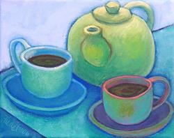 Art: Green Tea by Artist Elizabeth Fiedel