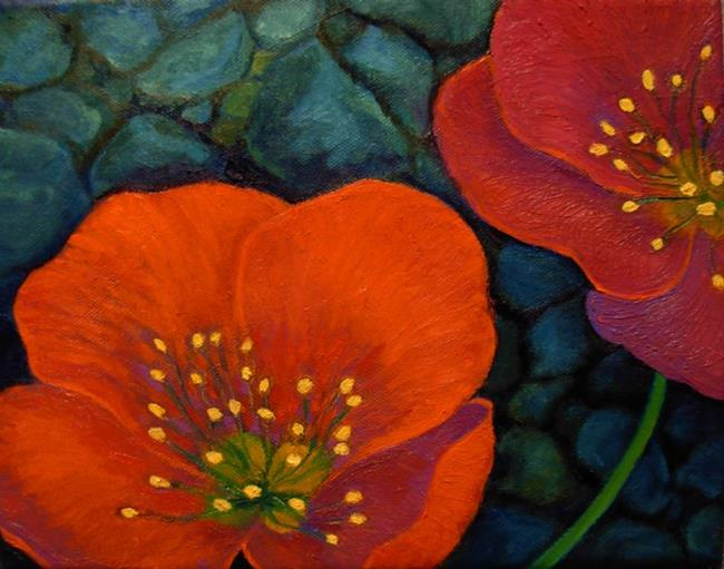 Art: Alpine Poppies by Artist Elizabeth Fiedel
