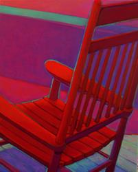 Art: Red Rocker by Artist Elizabeth Fiedel