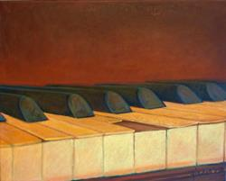 Art: Lisa's Piano by Artist Elizabeth Fiedel