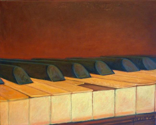 Art: Lisa's Piano by Artist Elizabeth Fiedel
