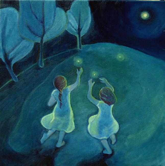 Art: Summer Sisters by Artist Elizabeth Fiedel