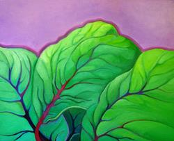 Art: Red Chard by Artist Elizabeth Fiedel