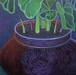 Art: Fractured Fractal Caladium by Artist Elizabeth Fiedel