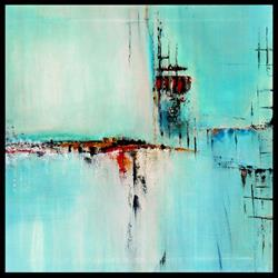 Art: Elle abstract 026 2424 Original Abstract Art Off Shore by Artist Thomas C. Fedro