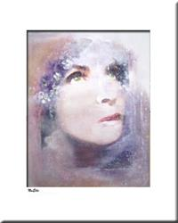 Art: Elle abstract 050 1117 Original abstract painting Mirage 1 by Artist Thomas C. Fedro