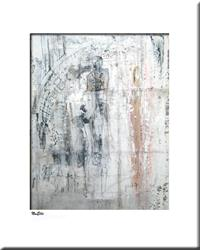 Art: Elle abstract 049 1117 GW Original abstract painting State Of  Oblivion 1 by Artist Thomas C. Fedro