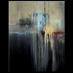 Art: Elle abstract 053 2430 GW Original abstract painting Atlantis by Artist Thomas C. Fedro