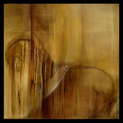Art: Elle abstract 054 2430 GW Original abstract painting Fallen by Artist Thomas C. Fedro