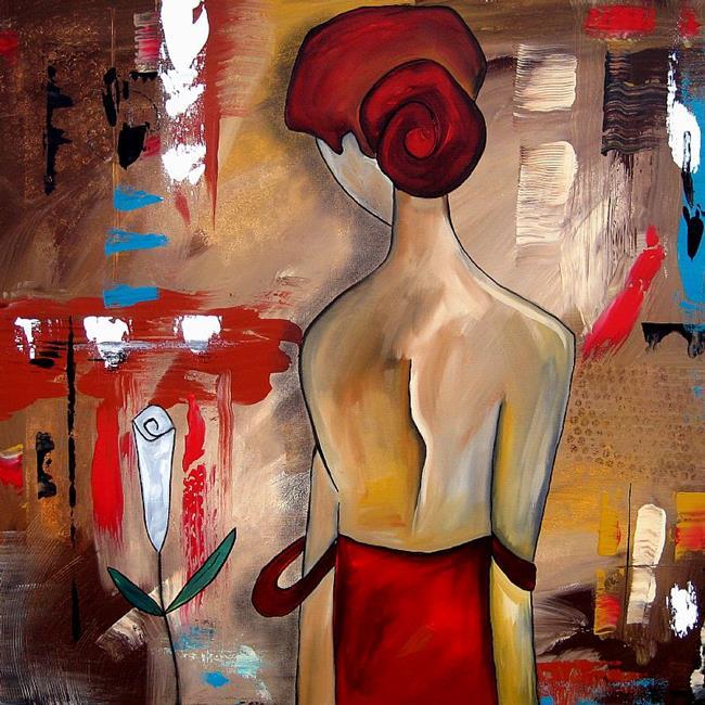 Art: Nude 134 3030 Original Abstract Art Let Go by Artist Thomas C. Fedro