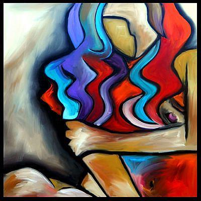 Art: abstract 424 2424 Original Abstract Art Sly Fox by Artist Thomas C. Fedro